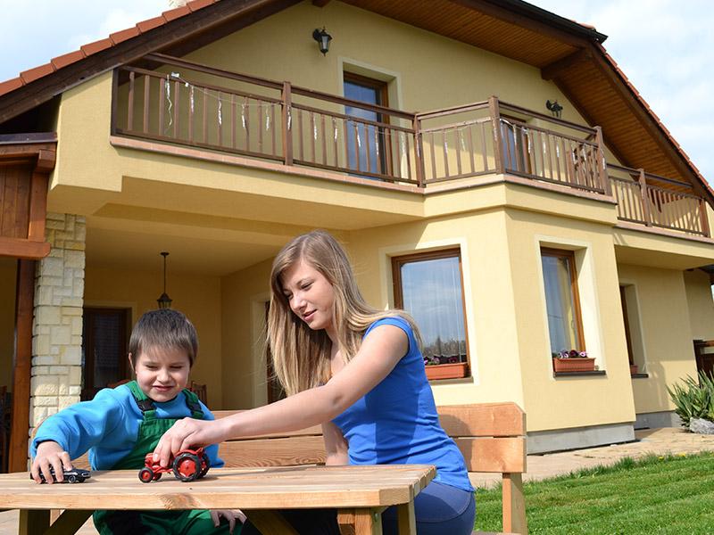 Eurookna v rodinném domě